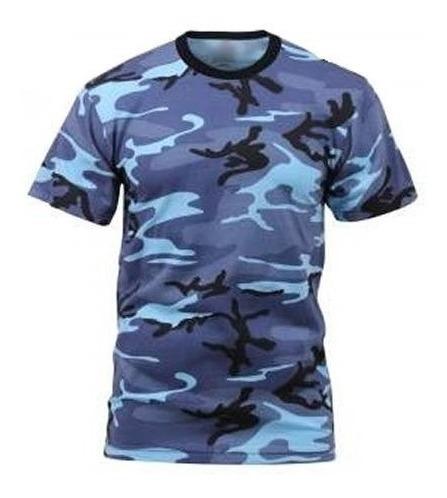Remera Tactica Camuflada Azul Sky Blue Spb