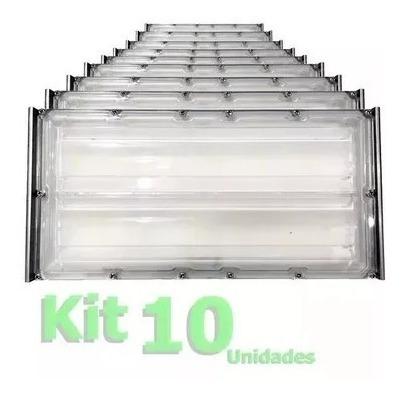 Kit 10 Refletor Led 100w Ip68 Iluminação Industrial