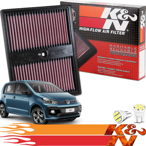Imagem 1 de 5 de Filtro Ar Esportivo Inbox K&n Ken 33-3037 Up 1.0 Tsi 2019