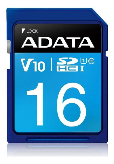 Adata Memoria Sd 16gb Uhs-i Clase 10 Celulares 50mb/s /k /a