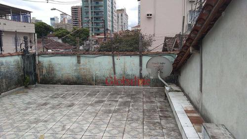 Casa Com 3 Dormitórios À Venda, 180 M² Por R$ 890.000,00 - Embaré - Santos/sp - Ca0041