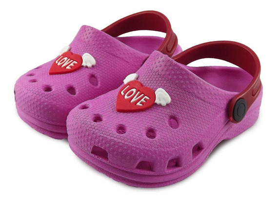 Babuche Infantil Feminina Pink Love