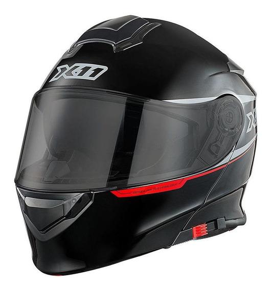 Capacete para moto escamoteável X11 Turner preto tamanho 64