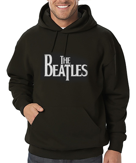 Sudadera Hoodie Con Gorro Bordada The Beatles