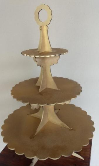 Porta Cupcakes Dorado 40 Cm Altura