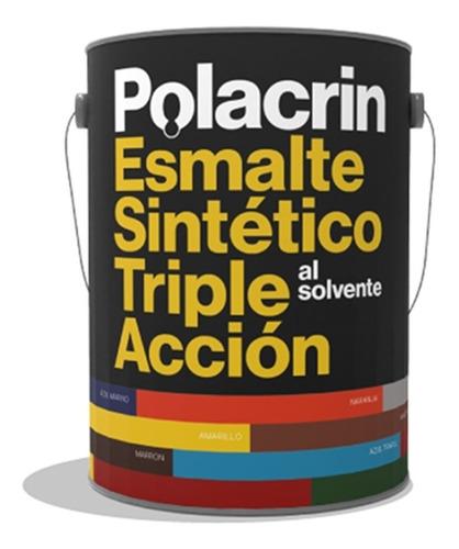 Pintura Esmalte Triple Accion Solvente Brillante Negro X4lts
