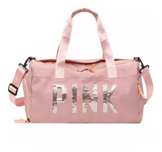 Bolsa Feminina Fitness Academia Viagem Modelo Pink Vintage