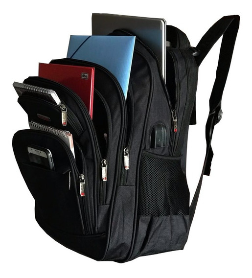 Mochila Notebook Reforcada Bolso Anti Furto Semi Impermeavel