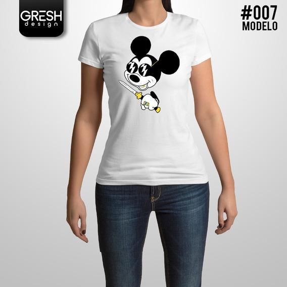 Remera De Mickey Mouse Talles Especiales
