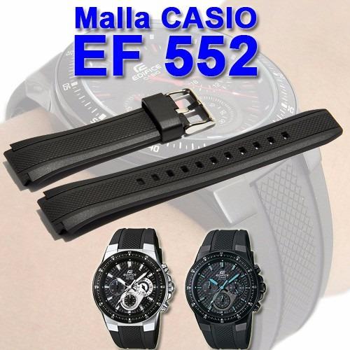 Caucho Colocacion Original Malla Reloj Ef552 Casio De Sc IED2HeW9Y