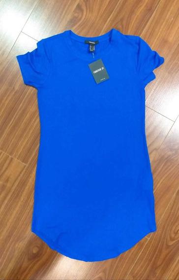 Vestido Corto Azul Forever 21