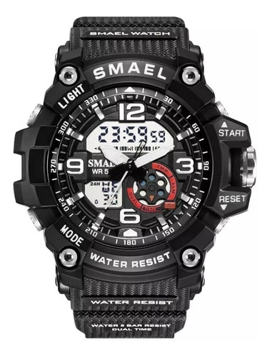 Relógio Smael 1808 Sporte Digital Analógico Original Unisex