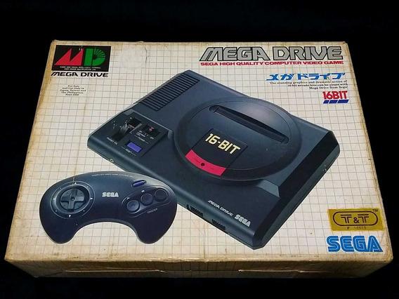 Vídeo Game Mega Drive Japonês Na Caixa Original