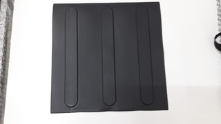 3 Caixas De Piso Direcional Preto