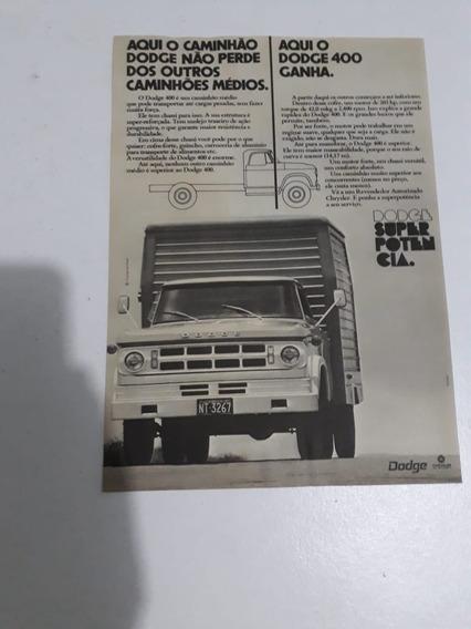 Propaganda Antiga Anúncio Caminhão Dodge Raro Publicidade