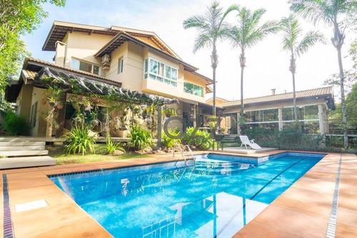 Casa Com 6 Dormitórios À Venda, 574 M² Por R$ 3.950.000,00 - Alphaville - Campinas/sp - Ca0938