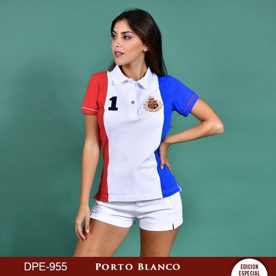 Playera Polo Dama Casual Algodon Mexico Porto Blanco Dp-955