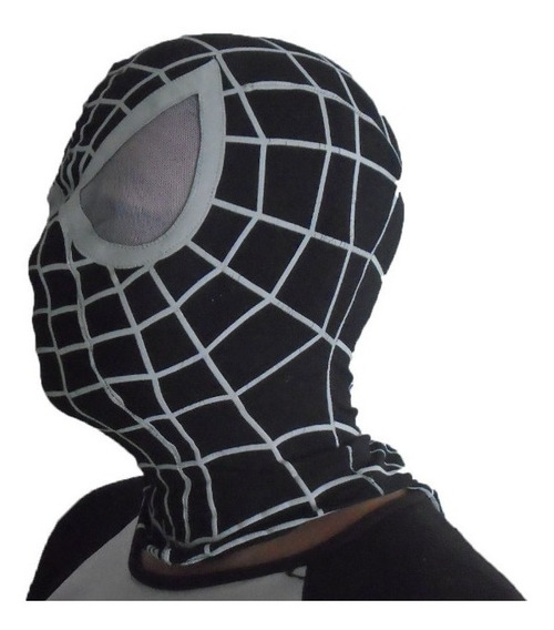 Mascara De Spiderman Negra.