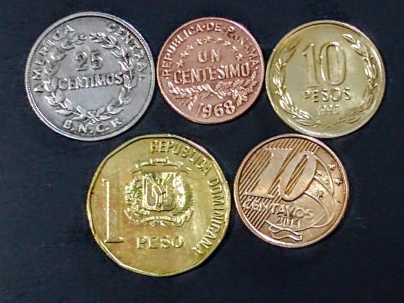 Monedas América 4 Dominicana Y Otros Países