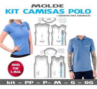 Molde Camisa Polo Masculina Feminina - Costura E Sublimação
