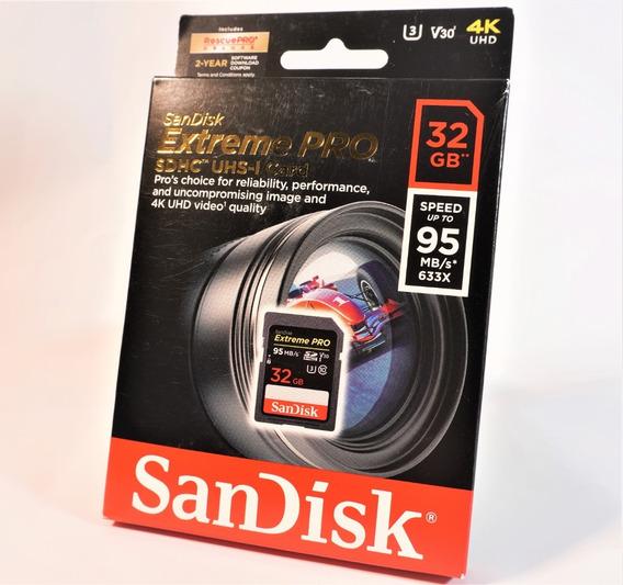 Cartão Sd Sandisk Extreme Pro 32gb 95mbs - Original + Brinde