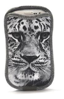Case Galaxy S3 E S4 E Outros Com Porta-cartão - Leopardo