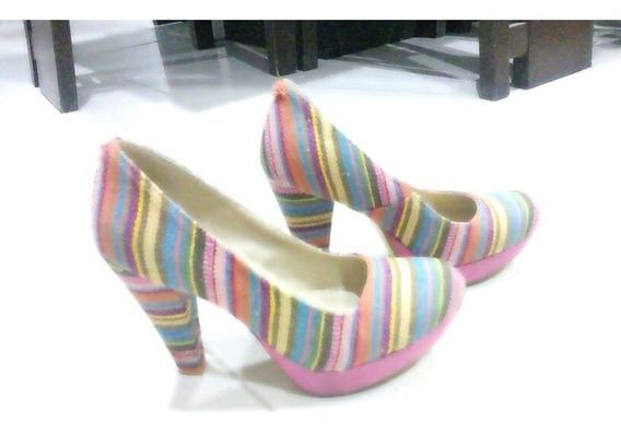 Bonitos Zapatos De Colores Talla 5 Gosh