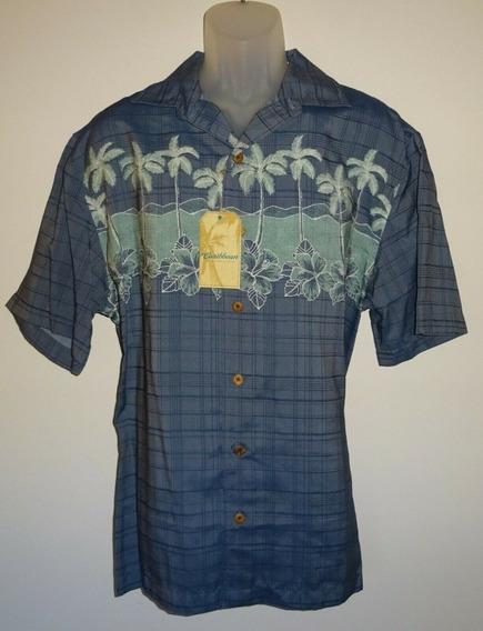 Camisa Hawaiana Caribbean Azul De Hombre Talla Xl