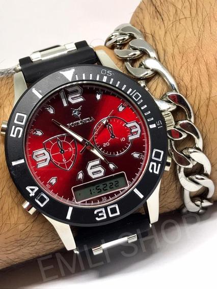 Kit 3x Relógio Masculinos Potenzia Revenda Atacado + Caixa!!