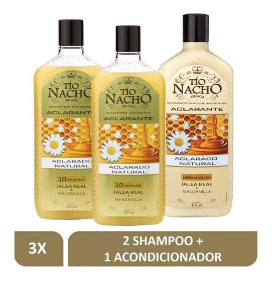 Pack Tío Nacho Aclarante 02 Shampoo+01 Acond. 415 C/u