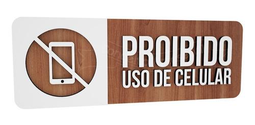 Imagem 1 de 3 de Placa Proibido Uso De Celular Hotel Empresa Consultório Hosp