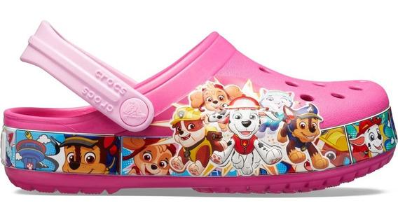 Zapato Crocs Crocband Infantil Paw Patrol Rosa