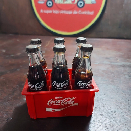 Mini Engradado Coca-cola Anos 80 Brinquedo Coleção