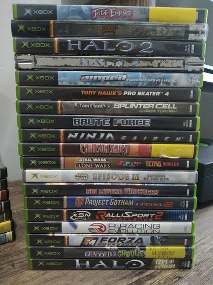 Lote Xbox Clássico Com 18 Jogos Originais Com Manual