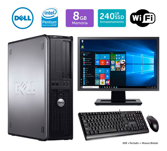 Micro Usado Dell Optiplex 780int Dcore 8gb Ssd240 Mon17w