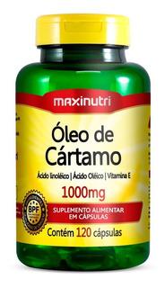 Óleo De Cártamo 1000mg Maxinutri Com 120 Cápsulas