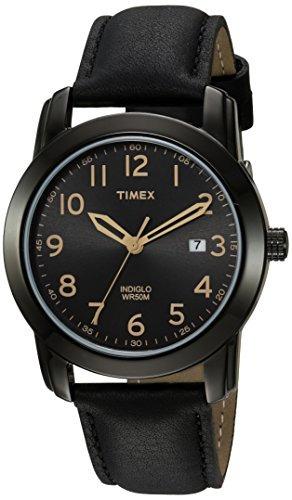 Timex Reloj Con Brazalete De Cuero, Fácil De Leer, Para Hom