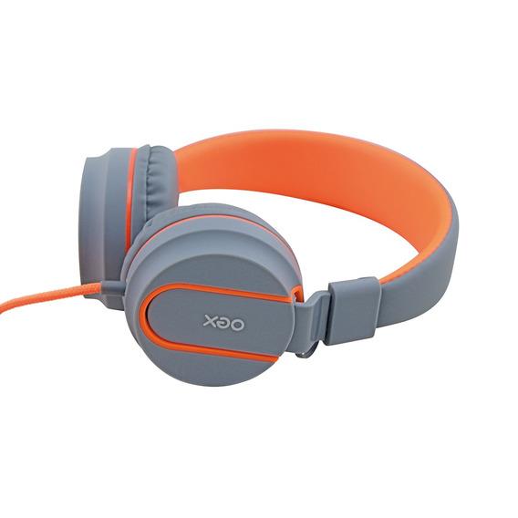 Fone De Ouvido Headphone Neon Laranja Hs106 C/ Microfone Oex