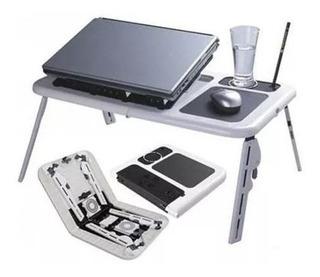 Mesa Portátil Notebook Netbook Doble Cooler Base Mouse 50196