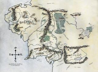 Láminas Señor De Los Anillos - Mapa Tierra Media - Wilwarin
