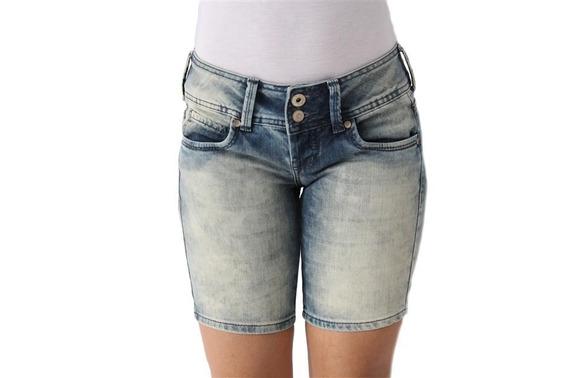 Bermuda Feminina Jeans Lavada