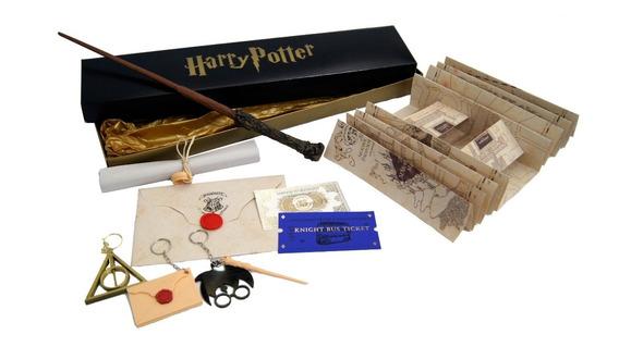 Varinhas Harry Potter + Mapa + Carta + Feitiços + Bilhete