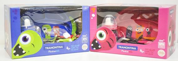Set Vajilla Infantil 4pz Tramontina Monster Kids 23799/498