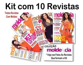 Kit 10 Revistas Molde E Cia Roupa Moda Corte E Costura