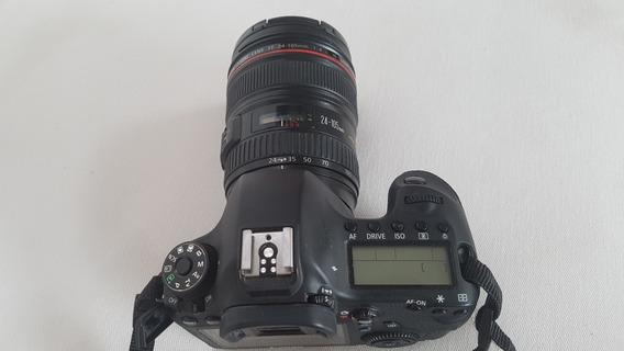 Canon Eos 6d Com Lente 24-105 Mm, 3 Baterias E Carregador,