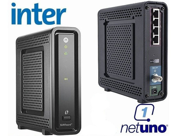 Modem Router Motorola Para Intercable Y Netuno A Domicilio $