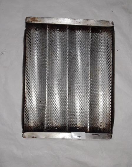 Baguetera 44x32-4 Ondas Bandeja Molde Pan Aluminio