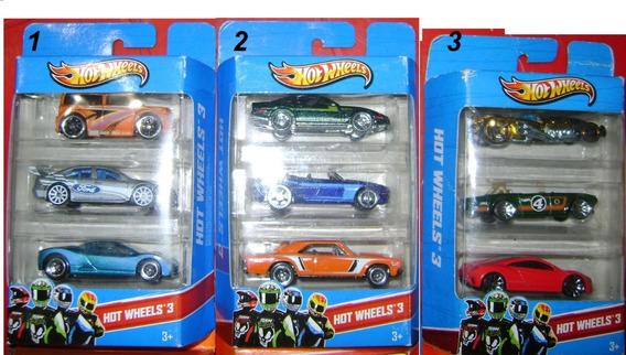 Carritos Hot Wheels Majorette Matchbox Pack 3