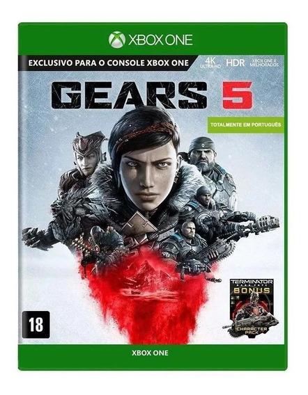 Gears 5 Xbox One Mídia Física Nacional Lacrado Rj