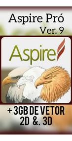 Programa Aspire 9 Pró Para Máquinas Cnc Com Pacote De Vetor